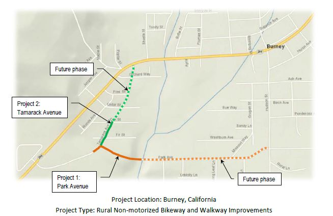 Burney Non-motorized to Transit projects