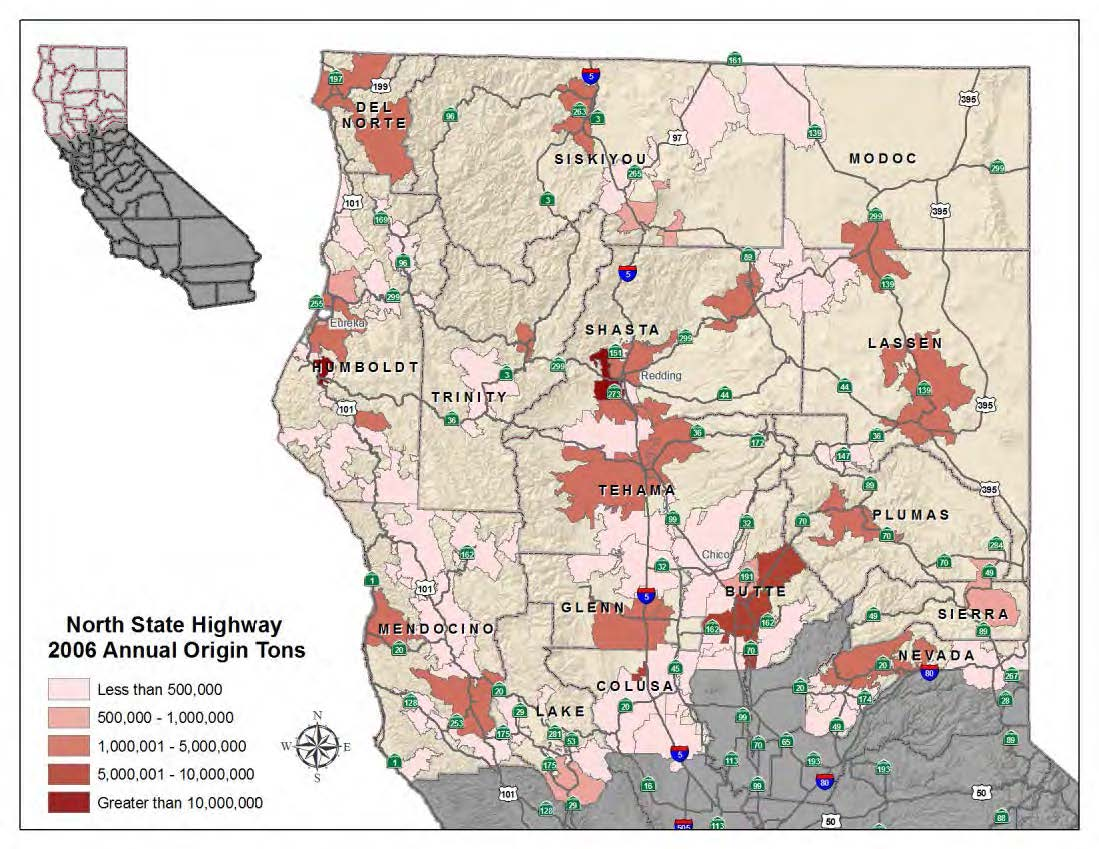 Origins of North State Commodities in 2006